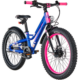 s'cool faXe 20 3-S kinderfiets Kinderen roze/blauw